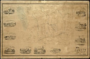 Map of the town of Canaan N.H