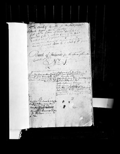 First page of Kingston Town record book
