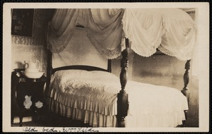 Woodside, 18 Brewster Road, interior view, bed and bedspread