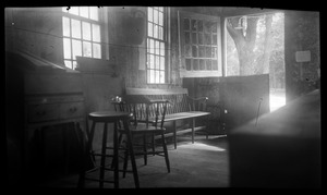 Joseph Holmes House, 232 Main Street, store interior recreated for Kingston Bicentennial: seating