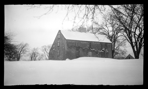 Major John Bradford House, 50 Landing Road, in snow