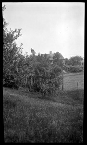Jabez Fuller House, called the Tontine, Basler's Lane and Main Street, behind the trees
