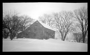 Major John Bradford House, 50 Landing Road, in the snow