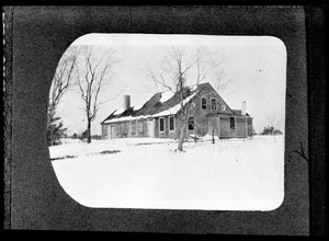 Unidentified house in the snow