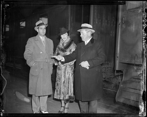 Gov. Curley shown with Mary and Mr. Donnelly