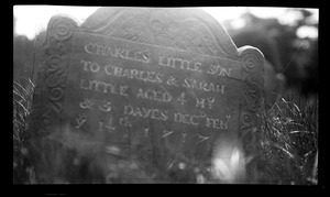 Charles Little gravestone, Old Burying Ground