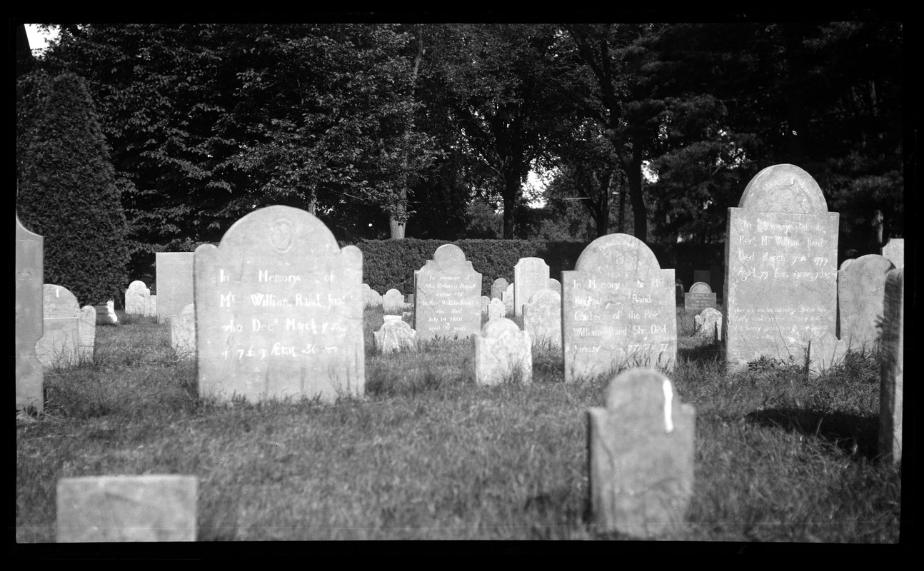 Rand family gravestones in the Old Burying Ground
