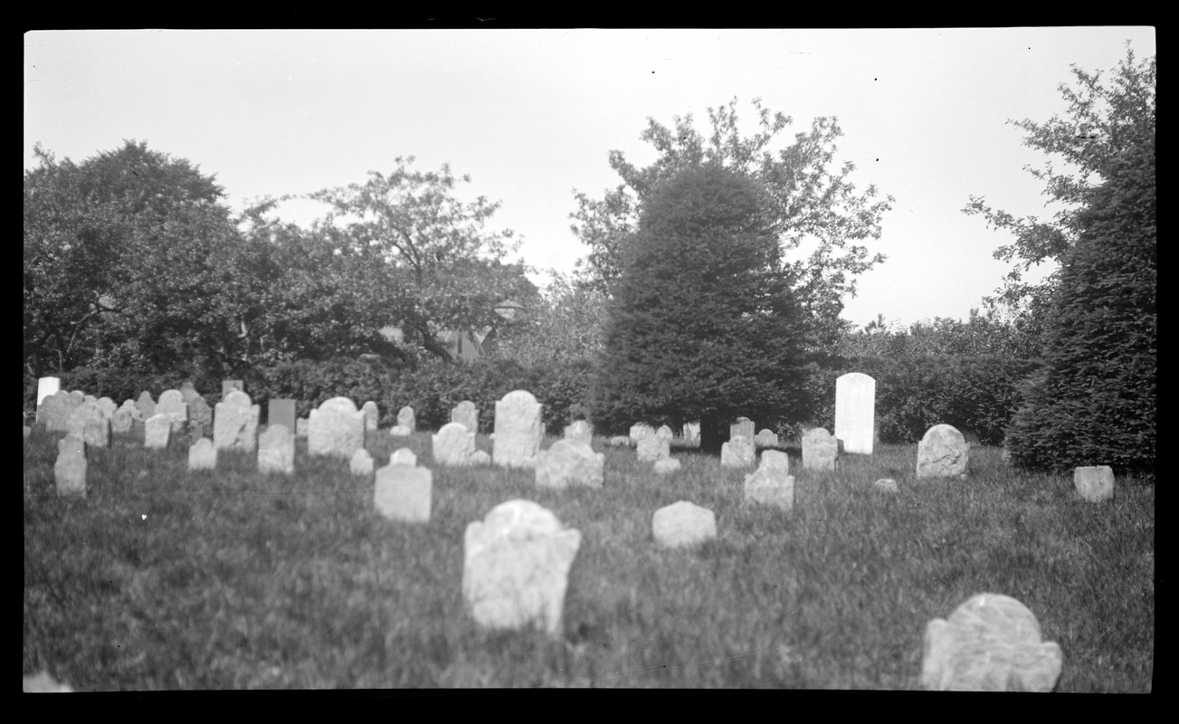 Old Burying Ground, looking west