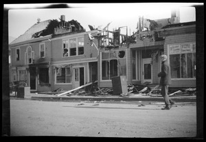 Fire damage to the Adams Block, 65 Summer Street