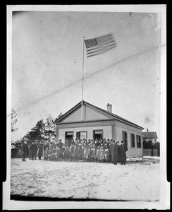 Flagpole dedication at the Stony Brook School