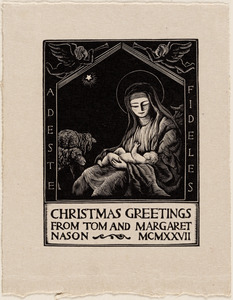 Adeste Fideles. Christmas greetings from Tom and Margaret Nason