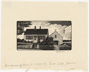 Residence of Mrs. A.S. Ormsby, Deer Isle, Maine