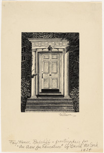 Fay House Doorway (Radcliffe College)