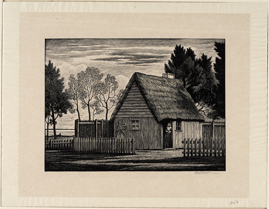 The first house, Plimoth Plantation