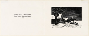 Christmas greetings from Tom and Margaret Nason 1962