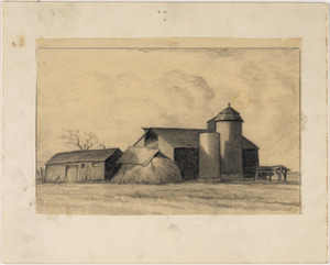 "Study for ""Hebron Barns"""