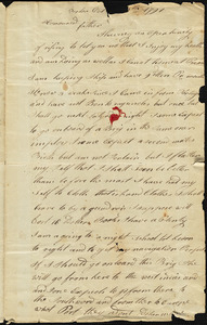 Isaac Hull to Joseph Hull, Boston, October 25, 1791