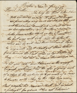 Isaac Hull to Joseph Hull, Boston, November 9, 1791