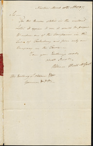 William Hull to Samuel Adams, Newton, March 20, 1797