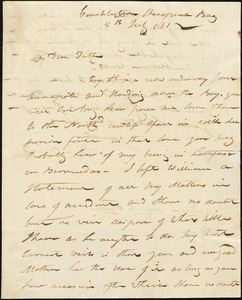 Isaac Hull to Joseph Hull, USS Constitution - Chesapeake Bay, July 5, 1812