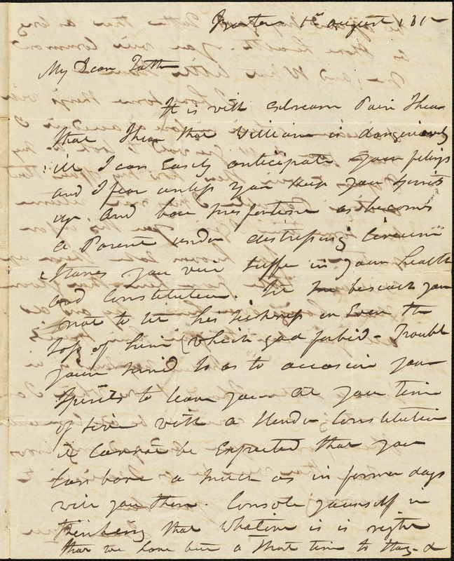 Isaac Hull to Joseph Hull, Boston, August 1, 1812