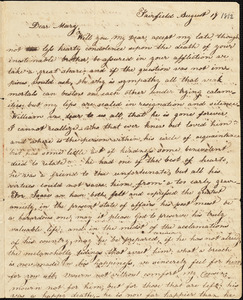 Elizabeth Hull to Mary Wheeler Hull, Fairfield, August 17, [1812]