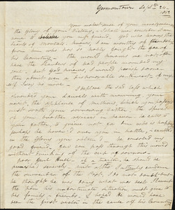 E. V. Curtis to Isaac Hull, Germantown, Pa., September 24, 1812
