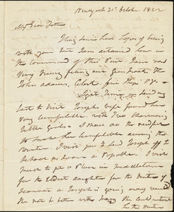 Isaac Hull to Joseph Hull, New York, October 21, 1812