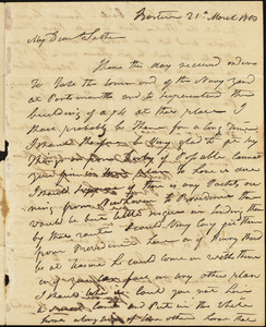 Isaac Hull to Joseph Hull, Boston, March 21, 1813