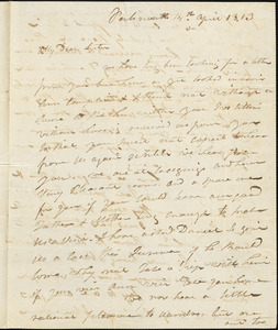 Isaac Hull to Mary Wheeler Hull, Portsmouth, April 14, 1813