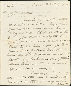 Isaac Hull to Henry Hull, Portsmouth, June 26, 1813
