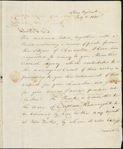W. Jones to Isaac Hull, Washington, July 3, 1813