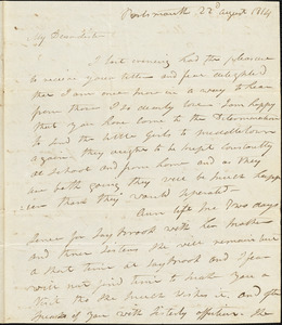 Isaac Hull to Mary Wheeler Hull, Portsmouth, August 22, 1814