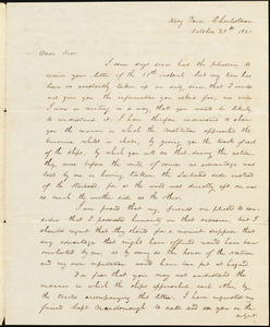 "Isaac Hull to Benjamin Silliman enclosing a plan of action between ""Constitution & Guerriere,"" October 29, 1821 (copy)"