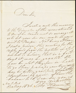 Alex Hammitt to Isaac Hull, May 2, 1836