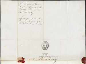 Marquis de la Concordia to Isaac Hull, October 26, 1839 (with translation)