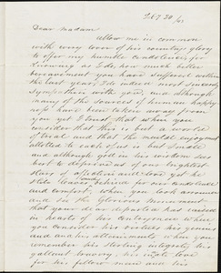 A. Goldsmith to Ann McCurdy Hart Hull, New York, February 21, 1843