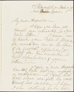 Ann McCurdy Hart Hull to Augusta Hull, Philadelphia, March 14, 1843
