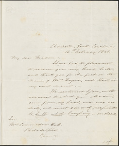 A. I. Hayne to Ann McCurdy Hart Hull, Charleston, S.C., February 12, 1848
