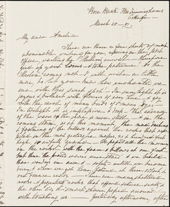 Ann McCurdy Hart Hull to Amelia Hart Hull, Bermuda, March 25, 1851
