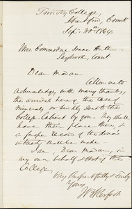 W.B. Kerfoot to Ann McCurdy Hart Hull, Hartford, Ct., September 30, 1864