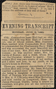 Clippings: Herald (1896), Evening Transcript (1885)