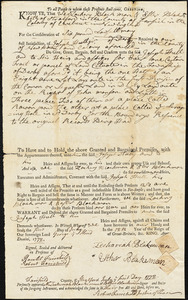Documents relating to properties in Derby in the 18th century
