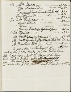 Hull, Ann McCurdy Hart. List of household articles, undated