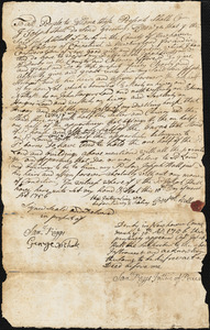 Hull, J. Joseph. Deed of land to his son Joseph Hull, March 10, 1756