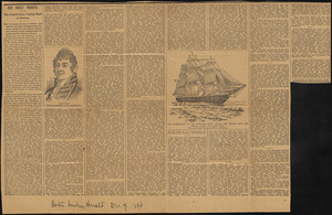 """Our noble frigate..."" Boston Sunday Herald, December 9, 1894"