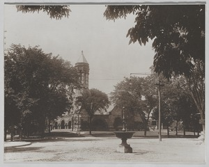 Newton photographs oversize : misc. sepia toned & mounted - First Baptist Church -