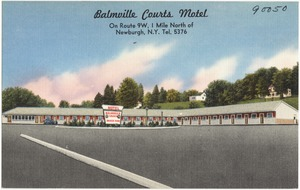 Balmville Courts Motel, on Route 9W, 1 Mile North of Newburgh, N.Y., Tel. 5376