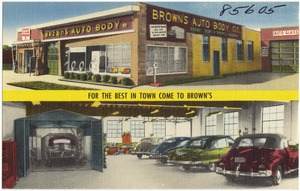 Brown's Auto Body. For the best in town come to Brown's