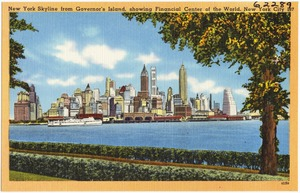 New York skyline from Governor's Island, showing Financial Center of the World, New York City